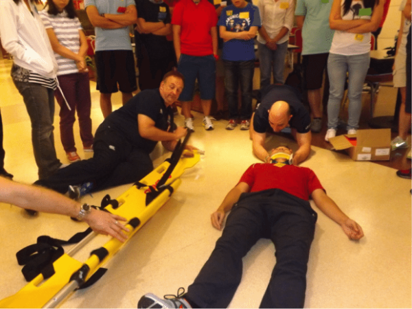 c-spine immobilization demonstration