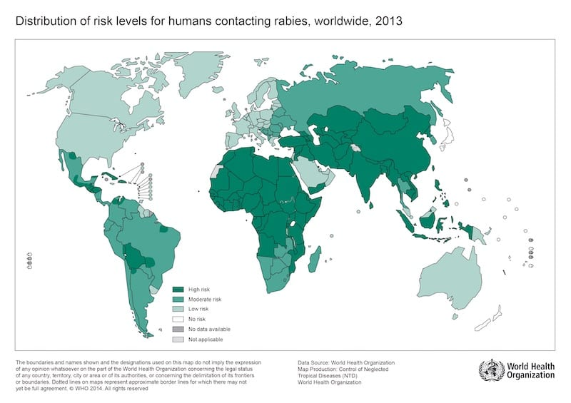 Distribution-of-risk-levels-for-humans-contracting-rabies-2013