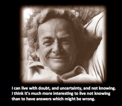 Feynman no knowing
