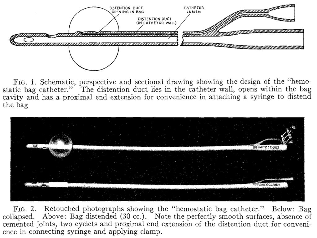 Foley self-retaining balloon catheter