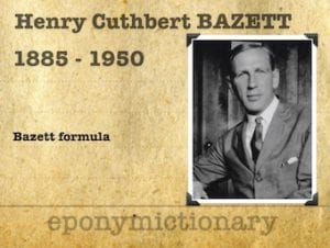 Henry Cuthbert Bazett (1885 – 1950) 2