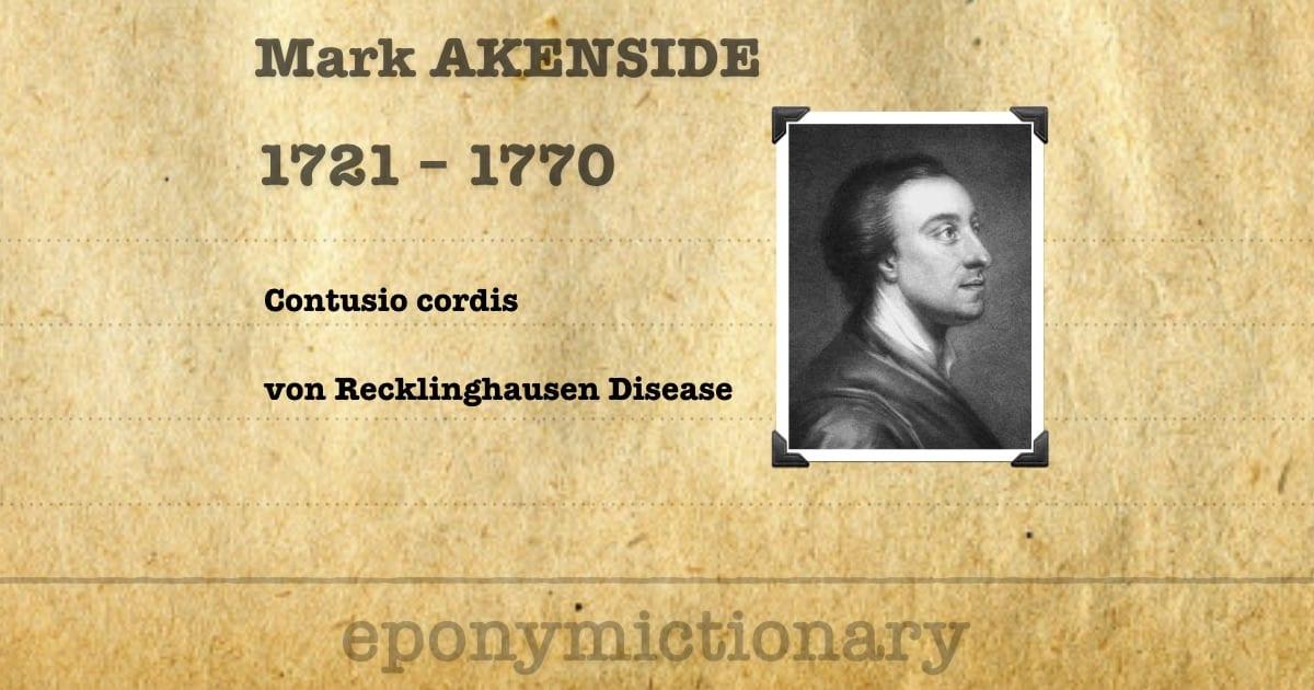 Mark Akenside akenside 1721 1770