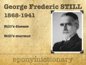 Sir George Frederic Still KCVO (1868 – 1941) 1