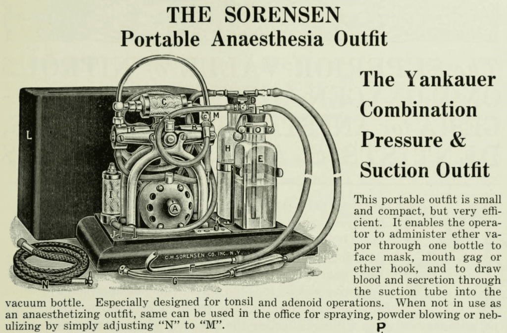 Yankauer Combination Pressure and Suction Outfit