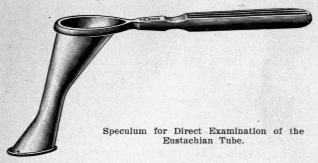 Yankauer Speculum for the Direct Examination and Treatment of the Nasopharynx and Eustachian Tubes