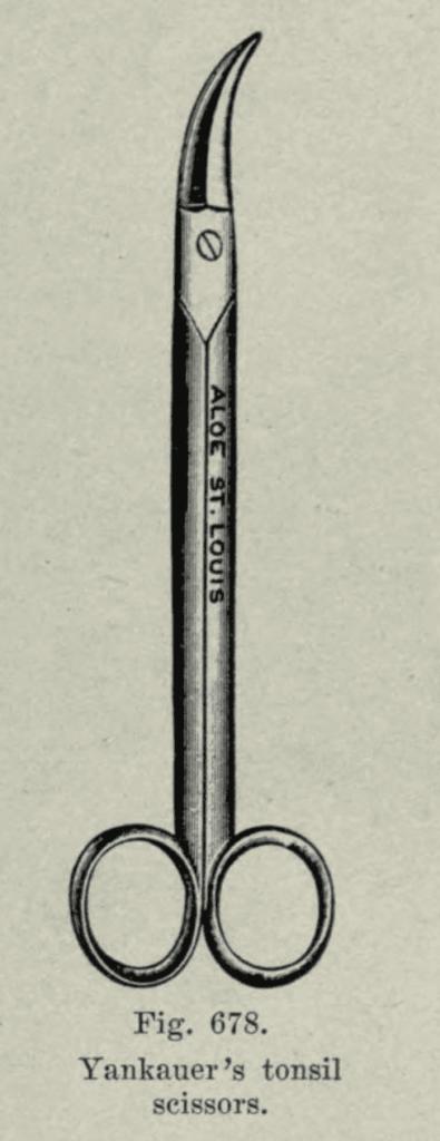 Yankauer tonsil scissors