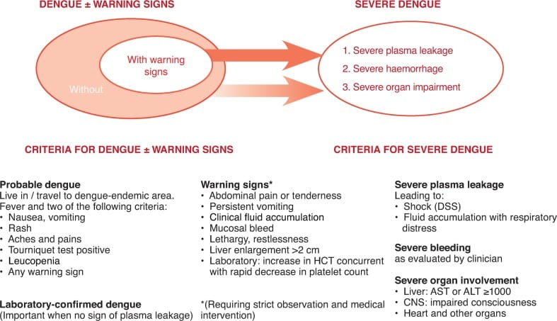 Dengue classification WHO