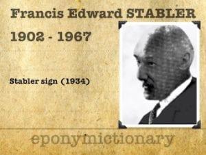 Francis (Frank) Edward Stabler (1902 – 1967) 1
