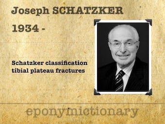 Joseph Schatzker (1934 – ) Canadian Orthopaedic Surgeon 340