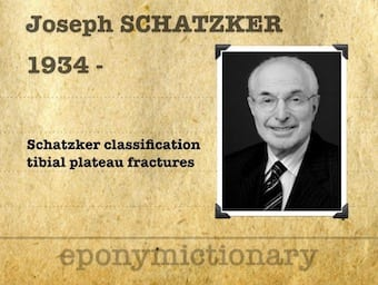 Joseph Schatzker (1934 – ) Canadian Orthopaedic Surgeon 340