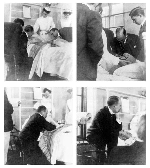 Sir William Osler at patient's bedside