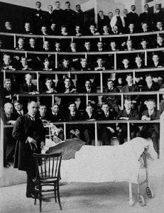 Osler with students at the bedside!