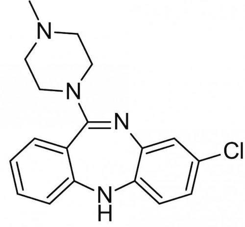 clozapine molecular structure