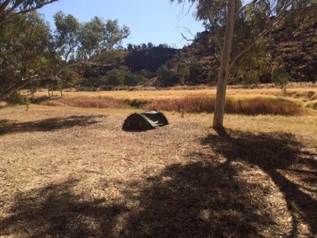 Swag camping at Palm Valley