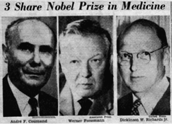 1956 Nobel Prize in Physiology or Medicine