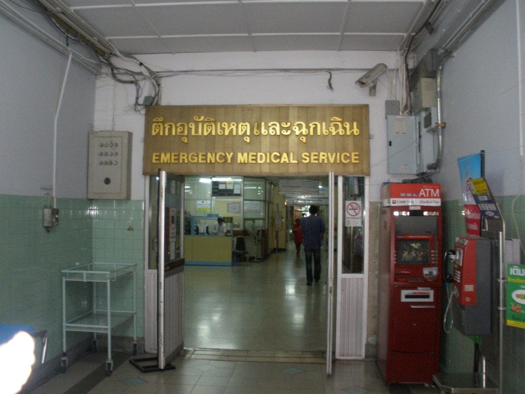 Rajavithi Emergency Department Triage Area