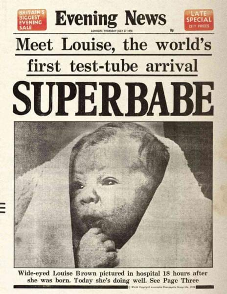 louise brown test tube baby