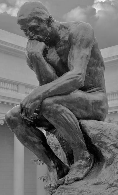 Rodin the thinker sign COPD