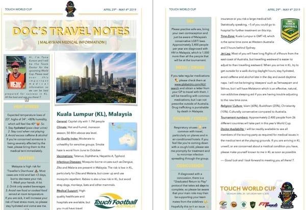 Docs travel notes
