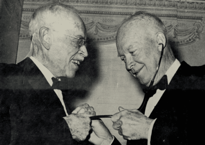 Dwight D. Eisenhower and Paul Dudley White in 1963
