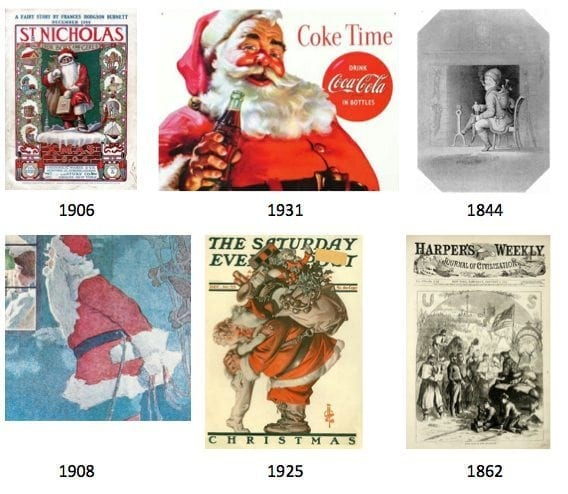 Santa-Claus-through-the-ages