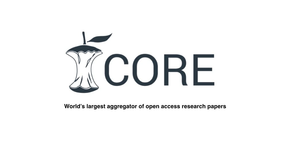 We are indexed at core.ac.uk