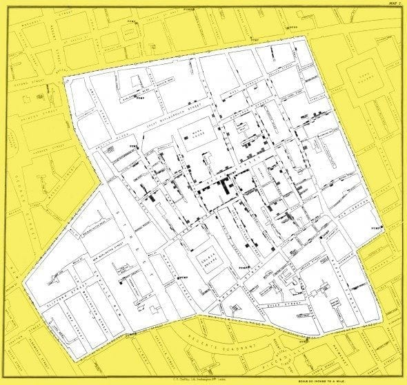 snow map cholera