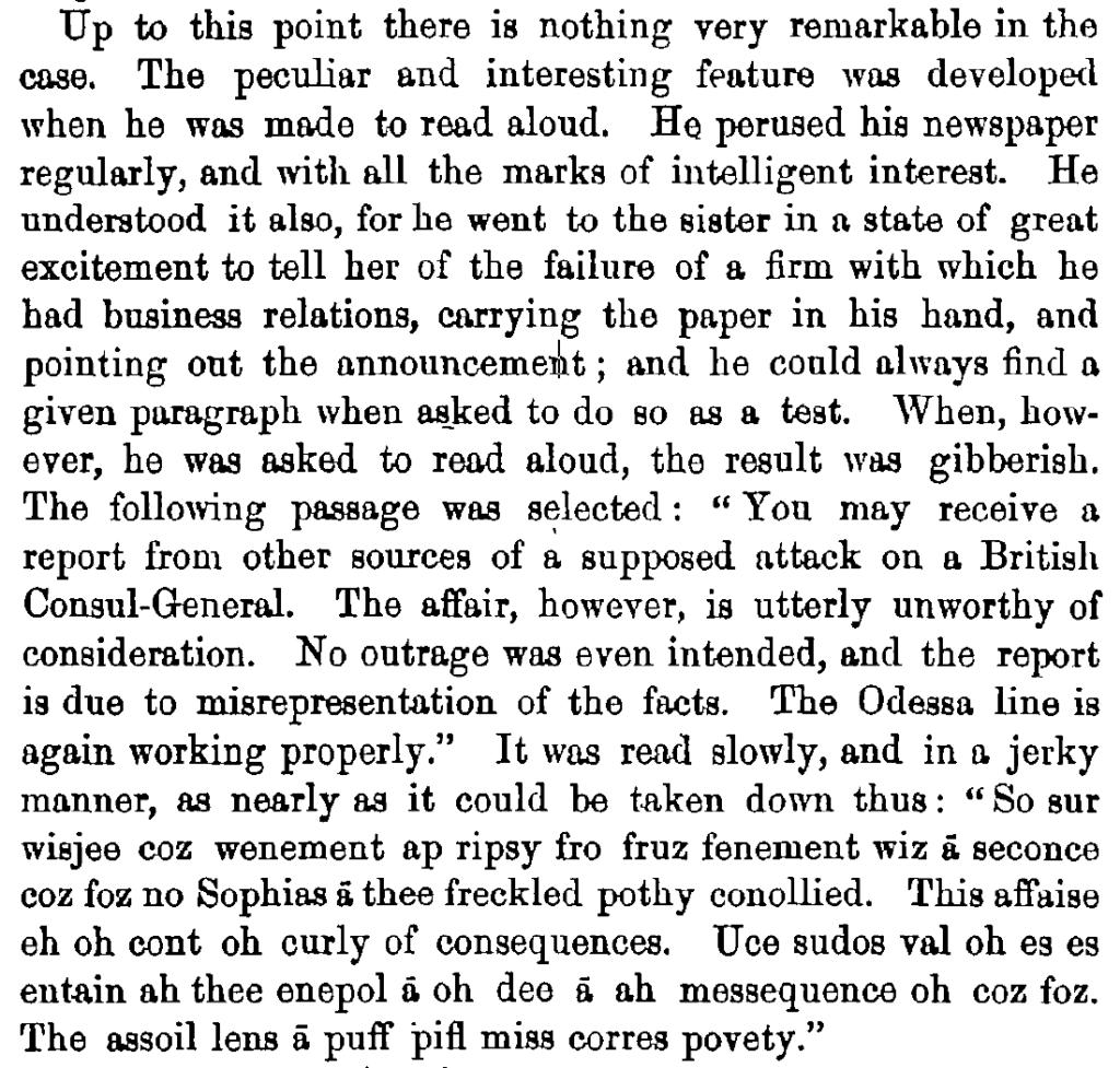 A case of peculiar affection of speech 1879