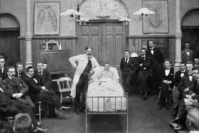Bedside teaching College van professor Pel (1852-1919)