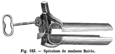 Le spéculum de madame Boivin 1825