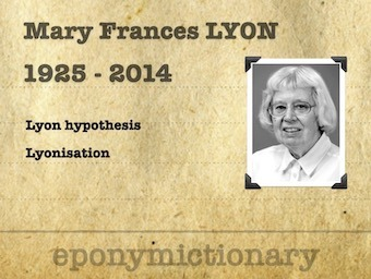 Mary Frances Lyon (1925–2014) 340