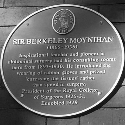 Berkeley George Andrew Moynihan plaque