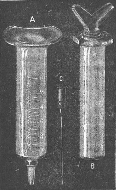 Luer all glass syringe 1896