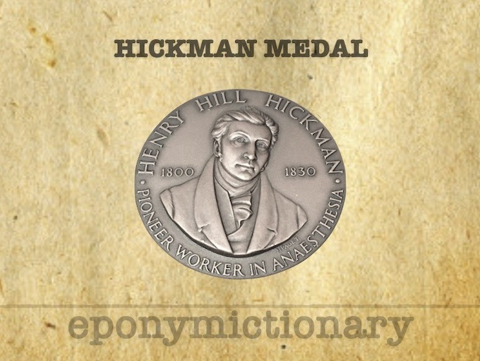 Henry Hill Hickman Medal 340 2
