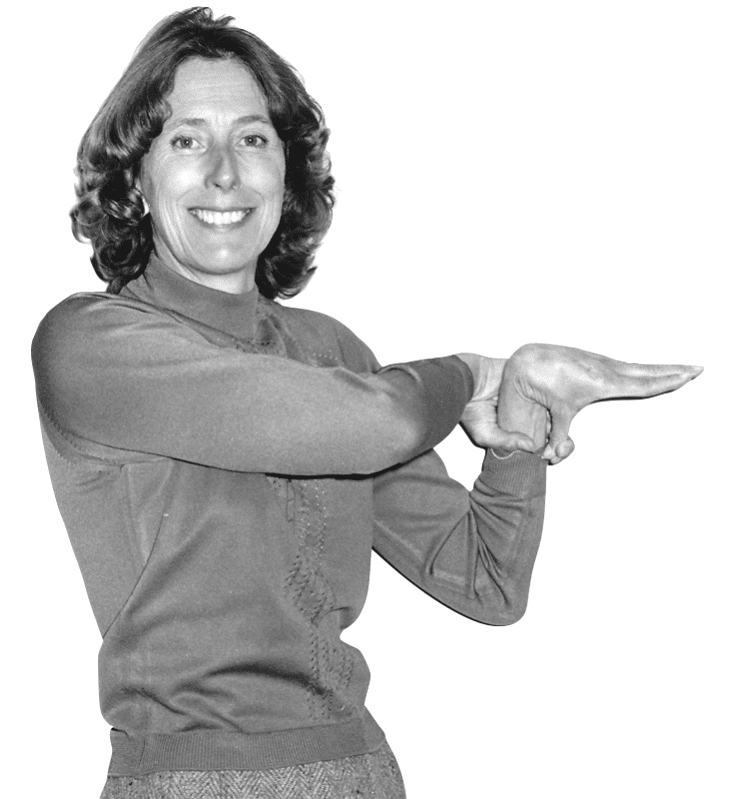 Greta Beighton demonstrating Beighton score