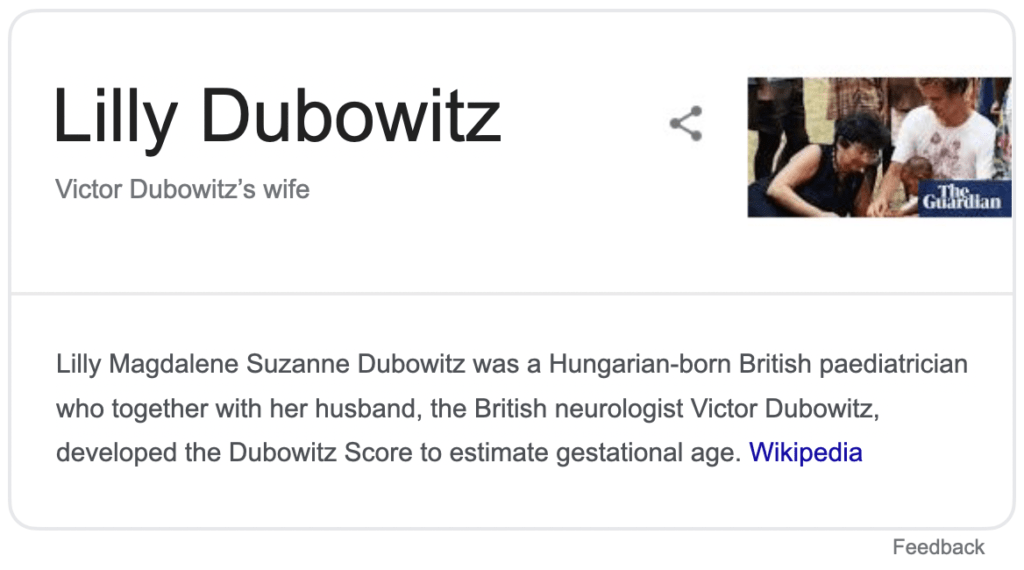 Lilly Dubowitz as Victor Dubowitz wife wiki