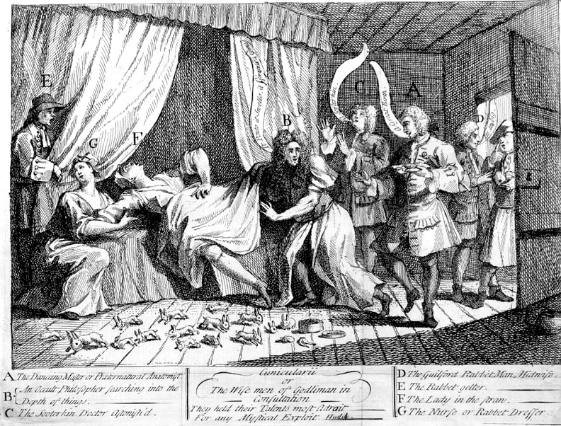 The wise men of Godliman in consultation. William Hogarth, 1726