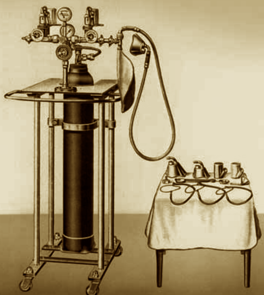 1910 Roth-Dräger Mixed Anaesthetic Apparatus
