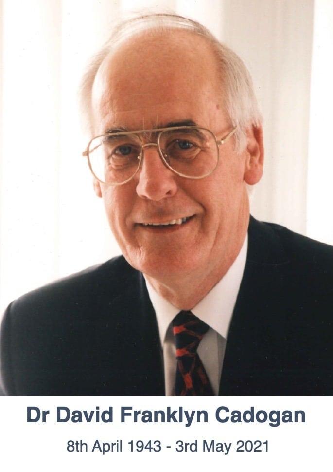 Dr David Franklyn Cadogan 1943-2021