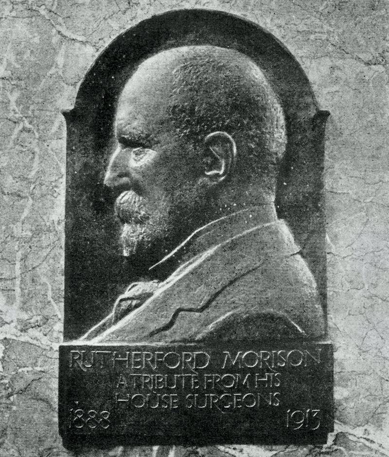 Rutherford Morison medallion portrait 1915