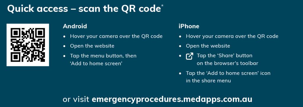 Emergency Procedures App QR